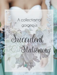 Beautiful Collection of Succulent Stationery. Only at Serendipity Paperie