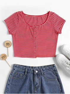 Product Striped Ribbed Crop Top available for Zaful WW, get it now ! Cheap Crop Tops, Cute Crop Tops, Black Crop Tops, Cropped Tops, Ribbed Crop Top, Striped Crop Top, Crop Top Outfits, Cute Casual Outfits, Top Bustier