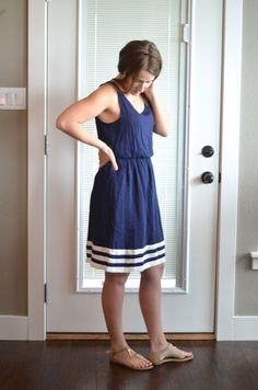 Stitch Fix Review April 2015 Blue White Dress http://fantabulosity.com