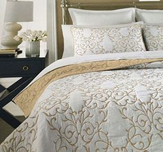 mixinni Luxury 100% Cotton Embroidered Quilt Set 3 Piece Bedding Set,Bedspread Set,Comforter Set-(King,Champagne) - Luxurious and Simple design makes quilt sets can be used as bedspreads,coverlets,comforters and room decoration art craft.Our set will have your bedroom decorated with style.Turn your home into a haven with our beautiful collectionDescriptionProduct Name:mixinni® Luxury 100% Cotton Embroidered Qu...