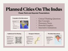 Planned Cities On The Indus History Presentation Harappan, Critical Thinking, Keynote, Geography, Innovation, Presentation, Concept, How To Plan, History
