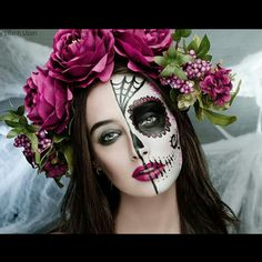Sugar skull Photographer: Lilach Ozan Model: Maya Ganor  Facepaint: Michal Henig גולגולת סוכר