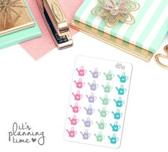 Garden Watering Can Planner Stickers 24 count by itsplanningtime