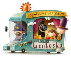 Illustration for Groteska Theatre by Maciej Szymanowicz, via Behance