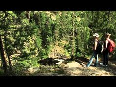 Hiking in Kuusamo in Oulanka National park in Lapland in Finland