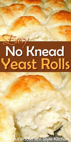 Breads 261842165824443165 - Bakers of all skill levels can make these fluffy No Knead Yeast Rolls Source by slowroasted Tasty Bread Recipe, Yeast Bread Recipes, Bread Machine Recipes, Baking Recipes, Recipe Of Bread Pizza, Fluffy Yeast Rolls Recipe, Yeast Dinner Rolls Recipe, Dinner Rolls Easy, Easy Rolls