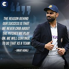 #Team India skipper #ViratKohli unhappy with all the 'pitch talk' recently. #INDvENG Cricket Quotes, Virat Kohli, Famous Quotes, Friendship Quotes, Pitch, A Team, India, Famous Qoutes, Goa India