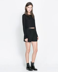 Image 1 of QUILTED SHORTS from Zara