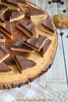 Buckeye Bars: no bake chocolate peanut butter candy that tastes like a Reese's peanut butter cup!