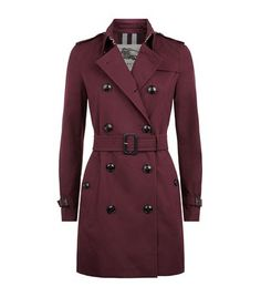 BURBERRY Kensington Mid-Length Trench Coat. #burberry #cloth #