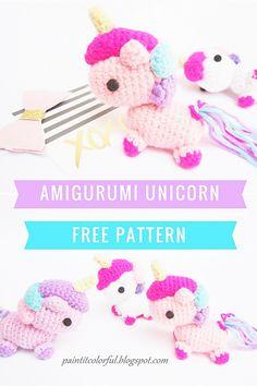 Ravelry: Unicorn amigurumi pattern by Anitha Domacin