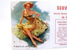 Gil Elvgren 1950s Pinup Advertisement Ink Blotter