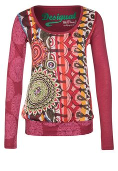 Desigual - ROSAS - Camiseta manga larga - rojo