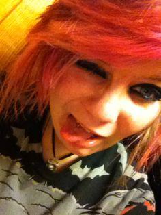 Pink an blonde :)