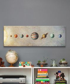Another great find on #zulily! The Solar System Panorama Gallery-Wrapped Canvas #zulilyfinds