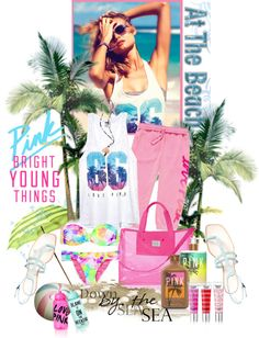 """""""Bright Young Things:PINK Spring Break Style"""" by sweetdee55 ❤ liked on Polyvore"""