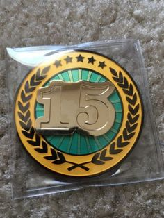 Celebrating-15-Years-Geocaching-Geocoin-Trackable-ACTIVATED-ADOPTABLE