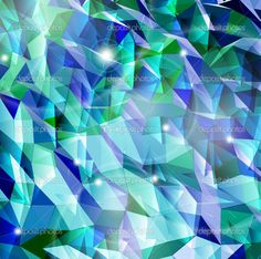 Abstract cyan background. Combination of triangle. Vector - Stock ...