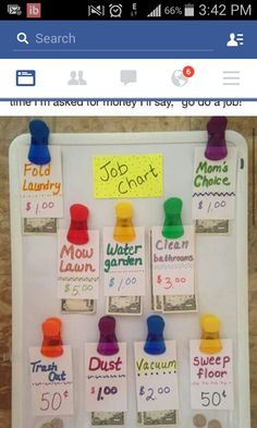 Job Chart: an easy way for kids to earn money Kids Job Chart, Chore Chart Kids, Chore Charts, Kid Cudi, Internet Time, Pet Water Fountain, Chores For Kids, Incredible Recipes, Bathroom Cleaning