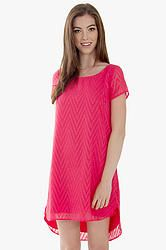 Crimson Textures Dress: Pinkish red textured chevron dress. Fully lined. Pair it with ankle boots and layered necklaces to complete the look.