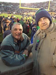 Rudy and Stanley Weber - at ND/USC - JIM SMALL'S NOTRE DAME GO IRISH BLOG -- www.NDGOIRISH.com -- A NOTRE DAME BLOG