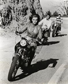 Ann-Margret on a motorcycle
