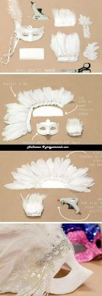 Halloween mask 2016 diy- That's the best kind of DIY – one that does not cost you anything. More @ http://girlypictorials.com/