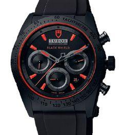 42000CR rubber strap Tudor часы Fastrider Black Shield