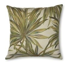 Coastal Palm Olive Cushion