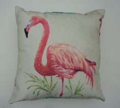 Pink Flamingo cushion throw pillow 50cm x 50cm by VenusCreations