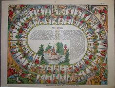 Jeu d'Oie (Game of the Goose) 1906 Percorso di 63 caselle numerate Ackermann R. (Imagerie Alsacienne-Wissembourg) Francia-Wissembourg XX secolo (1°/4)