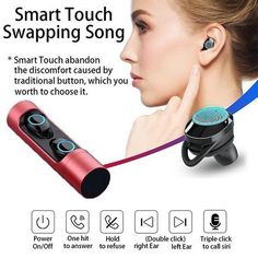 True Wireless Earbuds for Android & iPhone, iPad,it's Auto Pairing Bluetooth Stereo Hour Playtime, Earbud with Built-in Mic and Portable Charging Box - silver Wireless Headset, Bluetooth, Noise Cancelling, Ipad, Android, Touch, Iphone, Phone Accessories, Box