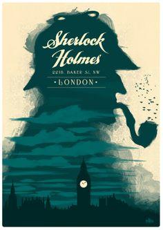 elementary sherlock holmes retro poster design made by graphic designer Rupinder Singh