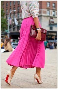 Cómo llevar preciosas faldas plisadas