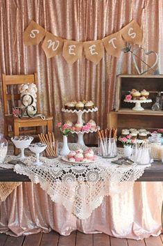 Nice 90 Adorable Wedding Dessert Table Ideas https://bitecloth.com/2017/10/20/90-adorable-wedding-dessert-table-ideas/