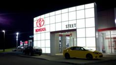 Our beautiful store at night! Steet Toyota Scion of Johnstown Gloversville, 310 N. Comrie Ave. Johnstown, NY