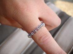 Urnes anillo de cadena personalizable maille por ValkyrjaAllure