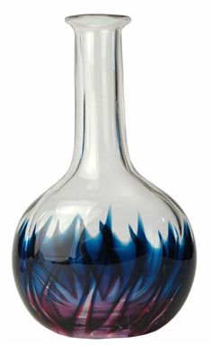 Vintage Swedish Studio Glass Vase by Goran Warff for Kosta
