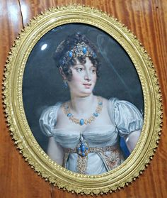 https://flic.kr/p/vc2QNk | Caroline Bonaparte, Napoleon's sister and Joachim Murat's wife, Queen of Naples - miniature on ivory 19th century - Paris, Foundation Napoléon
