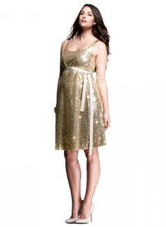 b6ffedd752 Maternity Holiday Dress  ) Gold Maternity Dresses