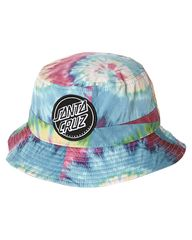 SANTA CRUZ DYE DOT BUCKET HAT - WOODSTOCK