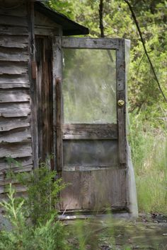 Side door of the abandoned house on Route 528, Jackson NJ
