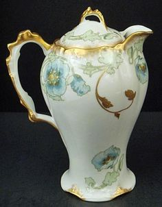 Antique Art Nouveau Limoges Chocolate Pot
