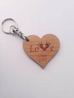 Heart keyring with your child's footprints on £6 or 3 for £10  https://www.etsy.com/shop/tinytoescraftcreate1