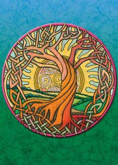 I like this tree of life and the sun in the background!