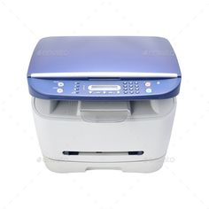 Buy Laser printer isolated on white by kravcs on PhotoDune. Multifunction printer isolated on white. Wireless Printer, Multifunction Printer, Laser Printer, All In One, Stock Photos, Black And White, Printing, Gray, Color