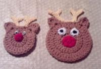 Christmas/Winter Fridgies and Coasters. Reindeer, gingerbread house, snowman and penguin