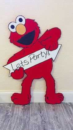 Items similar to Wooden Elmo Cutout - Wooden Elmo Cut Out - Elmo Birthday Party - Sesame Street Birthday Party - Elmo Birthday - First Birthday - Elmo -Party on Etsy Elmo First Birthday, 3rd Birthday Parties, Elmo Birthday Party Ideas, Sesame Street Birthday Party Ideas, Baby Birthday, Elmo Party, Party Party, Sesame Street Party, First Birthdays