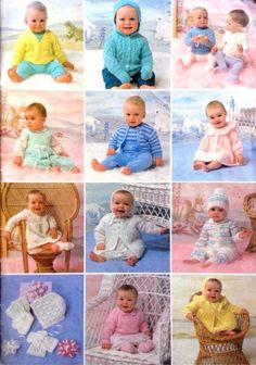 PDF Digital Download Vintage Knitting Pattern Booklet 25 Baby Patterns 14-20 3 ply 4 ply DK