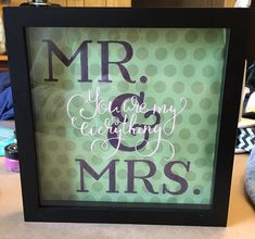 Mr. and Mrs. shadow box frame by ChalkDesignsbyDonna on Etsy